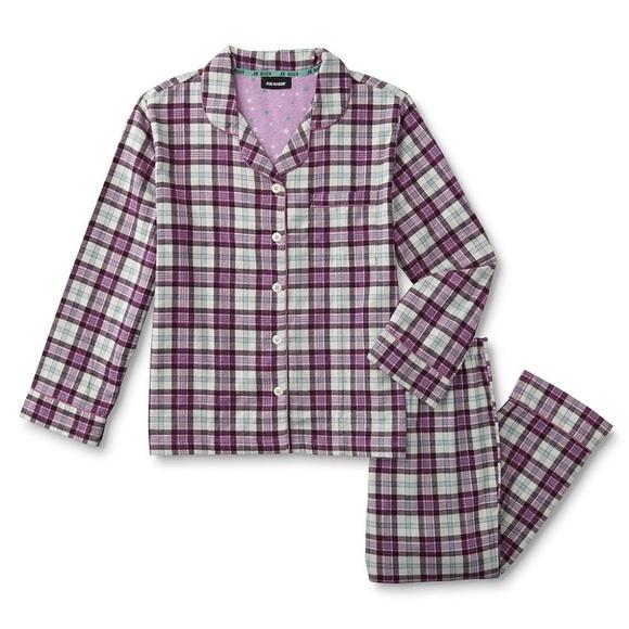 Joe Boxer Womens Plus Flannel Pajama Shirt   Pants 0df4dc2a4